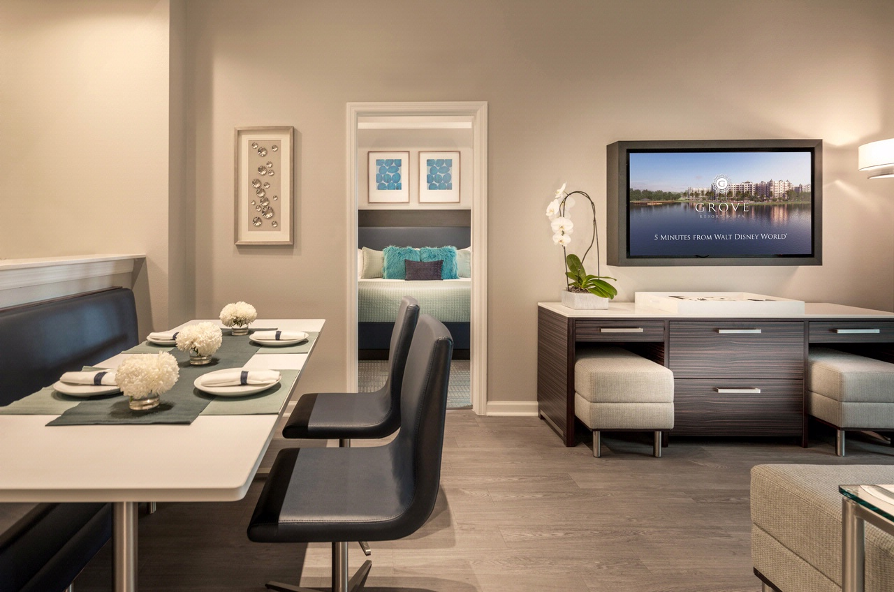 spacious dining and living room - Living Room Suites