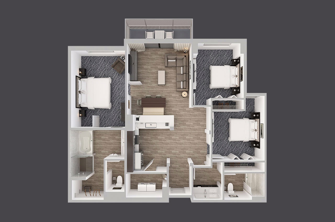 Three Bedroom Corner Suites