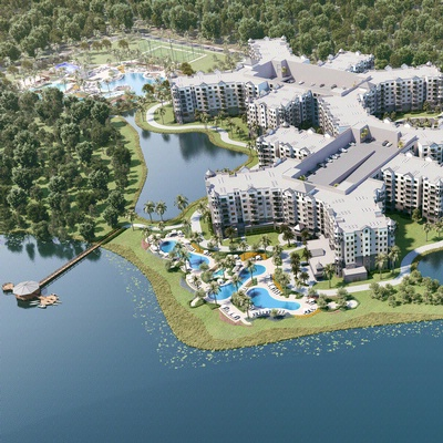 Aerial View Of The Grove Resort Orlando