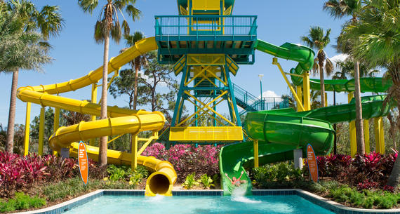 dual water slides at surfari water park