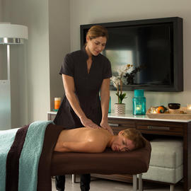 in-room massage treatment