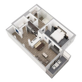 1 bedroom suite floor plan