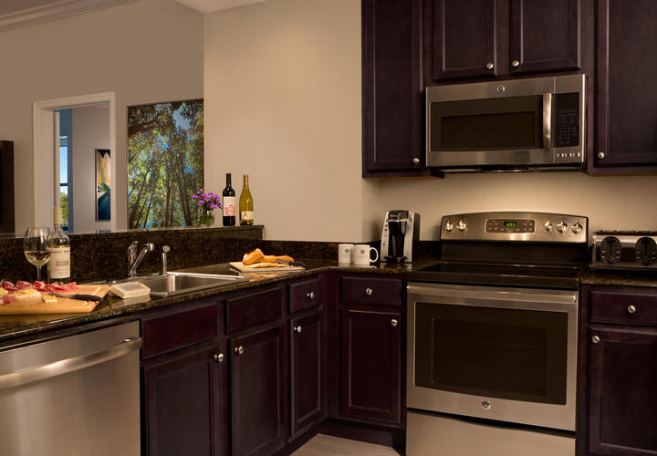 Kitchen Of Two Bedroom Suite At The Grove Resort Orlando