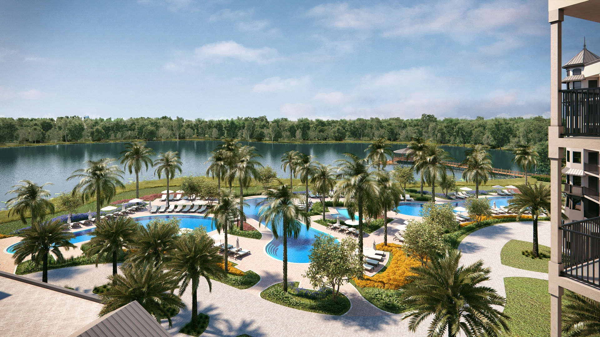 Outdoor Pools at The Grove Resort Orlando
