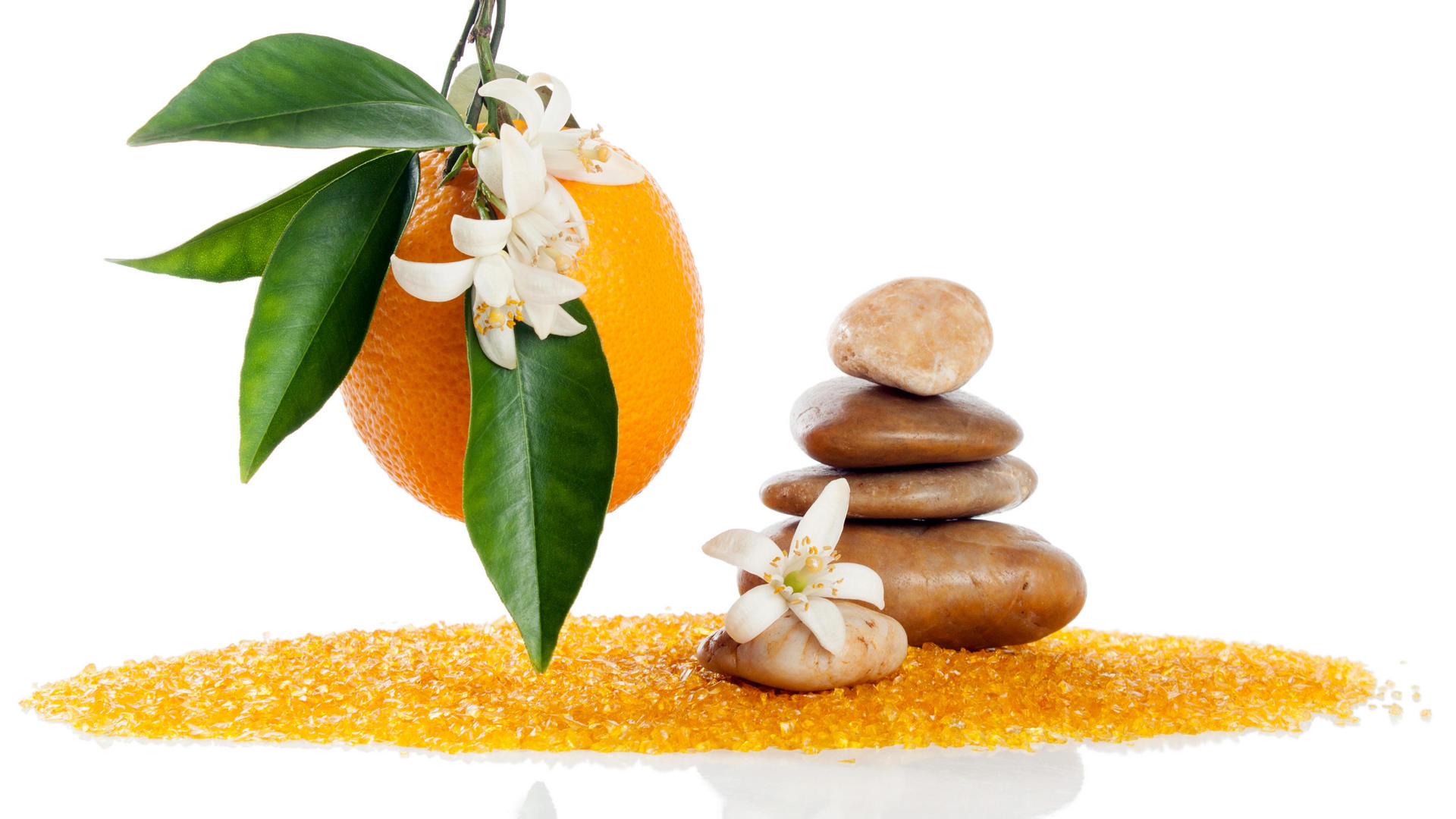 orange body scrub at the grove spa