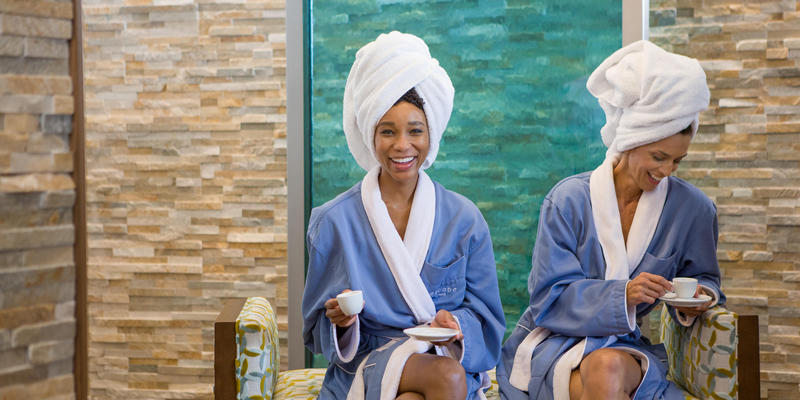 women pampering themselves