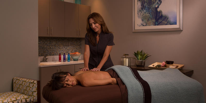 a massage at the Grove